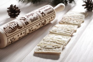 MERRY CHRISTMAS BISCUIT - embossing rolling pin